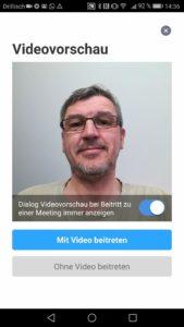 Zoom App Meeting beitreten